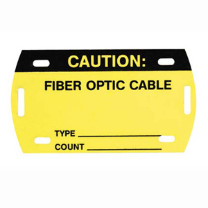 Self-Laminating Fiber Optic Cable Marker Tags