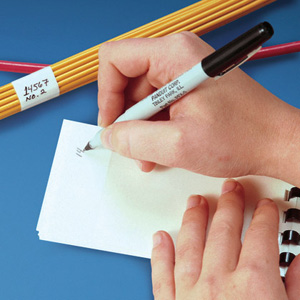 Blank Self-Laminating Write-On Cable Marker Books