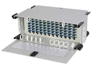 Amphenol Telect 72-port/4 RU loaded patch panel